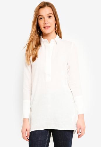 ICHI white Carola Shirt 2F032AA14183D5GS_1