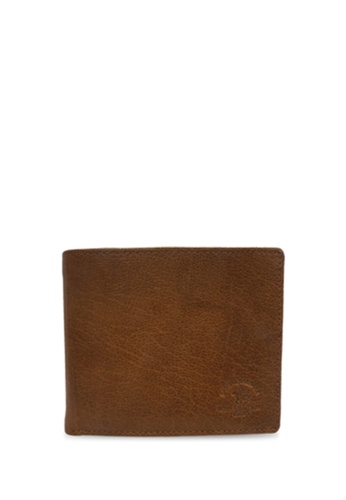 Santa Barbara Polo & Racquet brown Santa Barbara Polo & Racquet Club Leather Bifold Wallet 1E365ACBF8B8BFGS_1