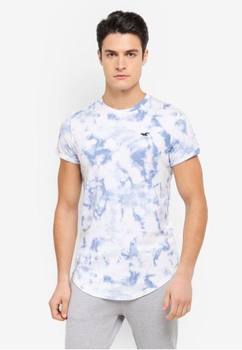 Hollister white Core Icon Curved Hem T-Shirt HO422AA0SZOFMY_1