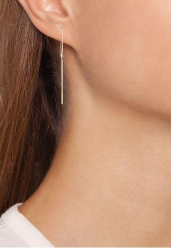 01f68004c Buy Orelia London Long Bar Drop Medium Hoop Earrings | ZALORA HK