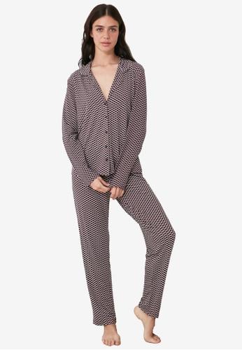 Trendyol multi Printed Shirt Pajamas Set BE085AAE290958GS_1