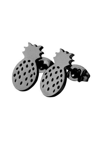 Kings Collection black Sweet Pineapple Earrings (KJEA20052) C6B65AC4C522A1GS_1