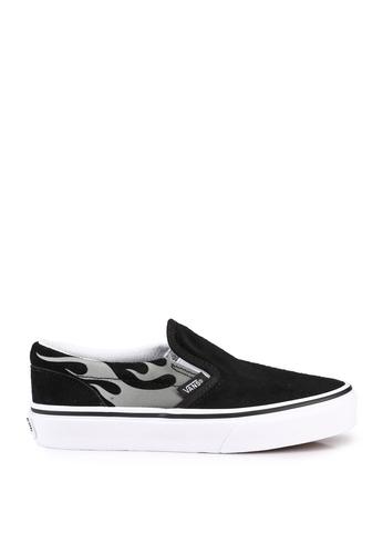 Vans black Suede Flame Slip-On 0EC6FKS1B71A73GS_1