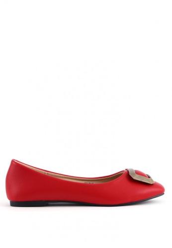 7soles red Wina L Flat Shoes EFCEFSHA64C9C4GS_1