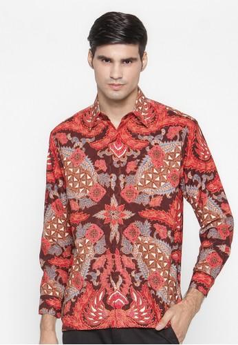 Waskito Kemeja Batik Semi Sutera - KB LE 0702 - Red