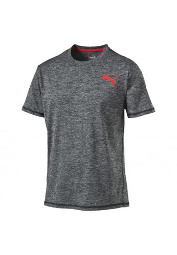 PUMA grey Training Men's Essential Puretech Heather T-Shirt 312F4AA0492F7DGS_1