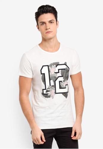 BOSS beige Tarit 5 T-Shirt - Boss Casual 4FC58AA4073876GS_1