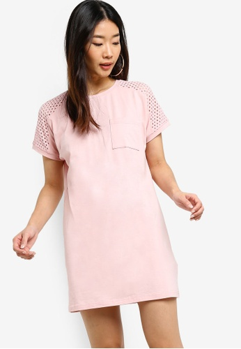 Something Borrowed pink Lace Trim Boxy Dress 94923AA03EA938GS_1