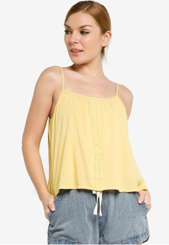 Rip Curl yellow Vista Cami Shirt B53CFAA51AA98CGS_1
