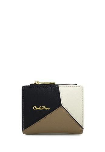 Carlo Rino brown Carlo Rino 0304213-501-36 Bifold small wallet (Khaki) 54108AC4096DF1GS_1