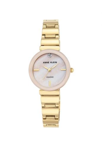 216e4348a11 Anne Klein gold Anne Klein Woman's Watch (AK-2434PMGB) - Diamond Dial Gold