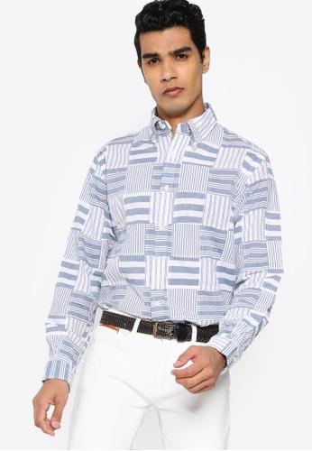 Brooks Brothers blue Printed Woven Shirt E82C7AA4127068GS_1