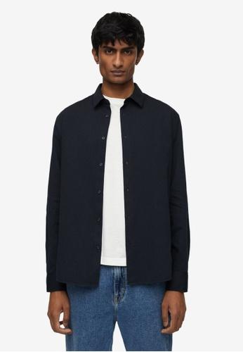 MANGO Man blue Slim Fit Cotton Shirt 958E0AA8E3816EGS_1