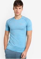 Nike blue Nike Dri-FIT Knit Men's Running Top NI126AA31MKAMY_1