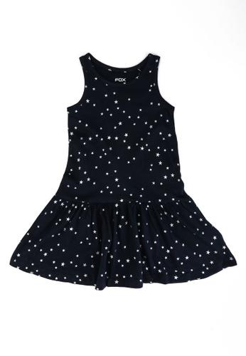 FOX Kids & Baby navy Dark Blue Drop Waist Jersey Dress B1D51KAC8309DFGS_1