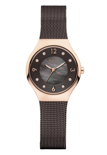Bering black and gold Solar 14427-265 Brown 27 mm Women's Watch 4F901ACA51101EGS_1