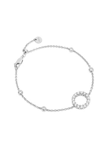 Crudo Leather Craft silver La Favore Sole Eterno 925 Silver Bracelet- White Gold 94CCCAC3CBED1FGS_1