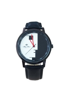 New Fei Fan Abstract Design Leather Watch