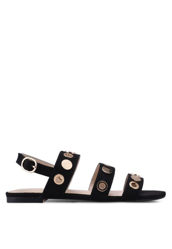 Something Borrowed black Studded Sandals 48EFBSH2AB3D32GS_1