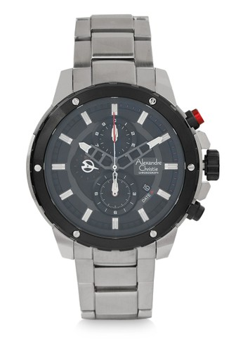 Alexandre Christie silver Alexandre Christie Jam Tangan Pria - Silver Black - Stainless Steel - 6530 MCBTBBA 45508AC9712BF3GS_1