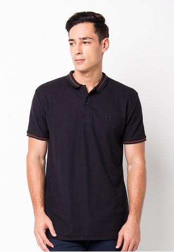 Endorse Polo Shirt E St Plane Black END-PF087