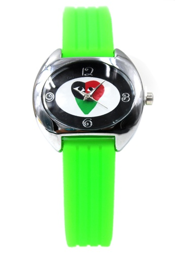 World of Watches green Play Trio Silicon Strap Watch 3028L WO566AC24DZBPH_1