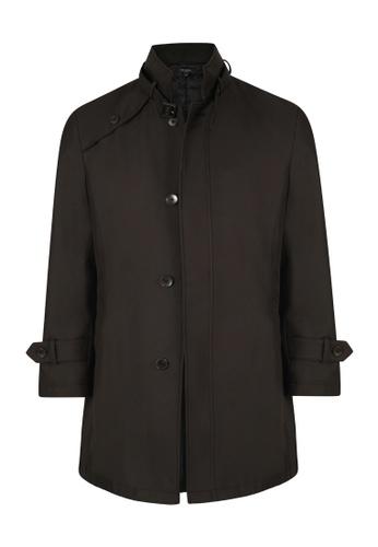 Gay Giano black Padded Trench Coat 3DA0BAA9691979GS_1
