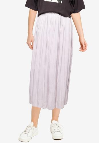 LOWRYS FARM grey Pleated Skirt 8BBEEAABF971E1GS_1