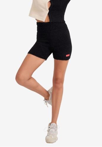 P.E Nation black Triple Double Knit Shorts E01D1AA5A12C36GS_1