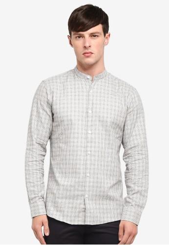 Selected Homme white Long Sleeve Check Shirt C277EAA85A6EFFGS_1