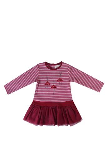 Babybol red Long Sleeve Dress 5EC83KA4033F9FGS_1