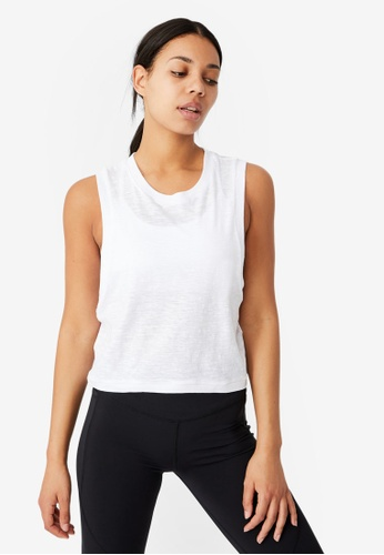Cotton On Body white All Things Fabulous Cropped Muscle Tank Top A9DCEAA10AD269GS_1