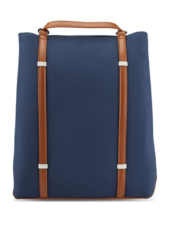 ZALORA navy Contemporary Canvas Backpack 64336AC6B5C7EBGS_1