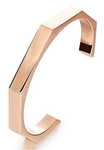 Trendyshop gold Rose Gold Open Arc Bangle E03E1AC3614317GS_1