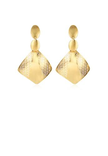 Glamorousky silver Fashion Golden Earrings C22FDAC4249026GS_1