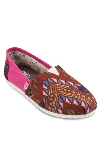 Saltillo 民族風印花懶esprit hk store人鞋, 女鞋, 鞋