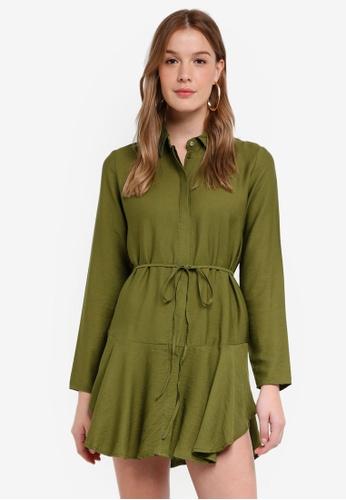 The Fifth Label green Crew Long Sleeve Dress 32DEEAA07526E9GS_1