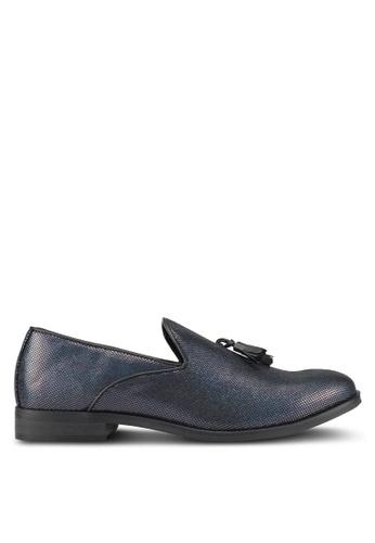Topman navy Faux Suede Tassel Loafers TO413SH0SHQMMY_1
