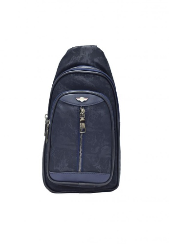 POLOVENZI blue POLOVENZI MEN NYLON CHEST BAG/ CROSSBODYBAG/ BELT BAG EC99DAC9B26756GS_1