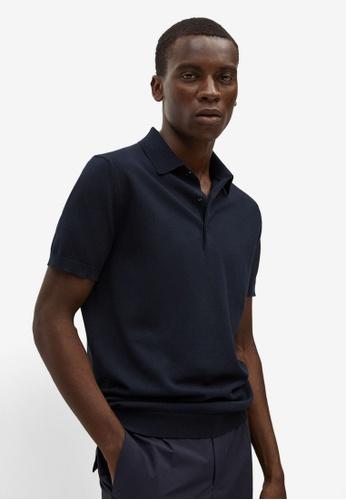 MANGO Man 藍色 針織棉 Polo 襯衫 922BBAAD27D503GS_1