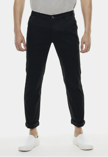 Private Stitch black Slim Fit Chinos Trouser In Black PR777AA40QXZMY_1