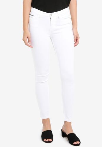 Calvin Klein white A-HR Skinny A-GW STR Jeans - Calvin Klein Jeans 8AA4EAAEB2F62BGS_1