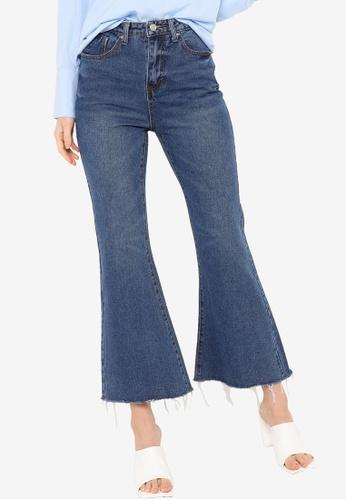 ZALIA BASICS blue High Waisted Flare Jeans 3F7E5AA65BFC24GS_1