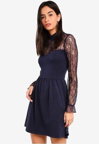 ONLY navy Lucca Mix Dress 1E7ACAA7E20481GS_1