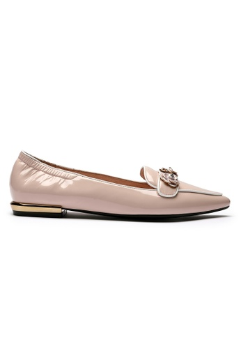 Byford pink Janet - Pointed Toe Paneled Flats 9BA28SH1454F52GS_1