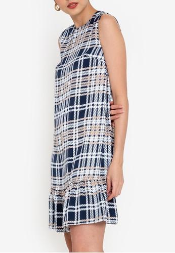 ZALORA WORK multi Drop Hem Mini Dress E07CDAA17CF120GS_1