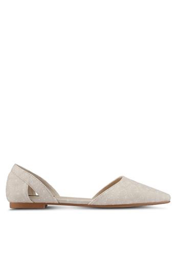 ZALORA beige Jaquard Fabric Flats 1C045SH2E676F2GS_1