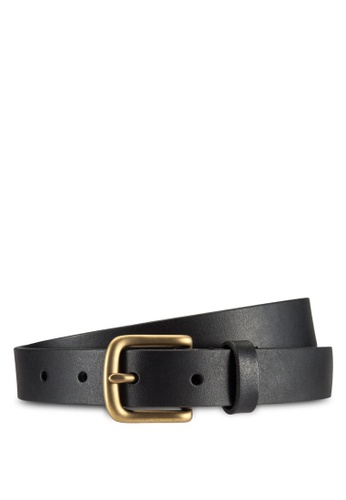 Abercrombie & Fitch black Leather Belt AB423AC97IQGMY_1