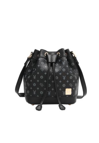 PLAYBOY BUNNY black Women's Sling Bag / Shoulder Bag / Crossbody Bag 94EA8AC9C72EAFGS_1