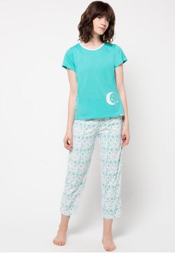 PUPPY white and blue Eva Sleepwear PU643AA07XYEID_1